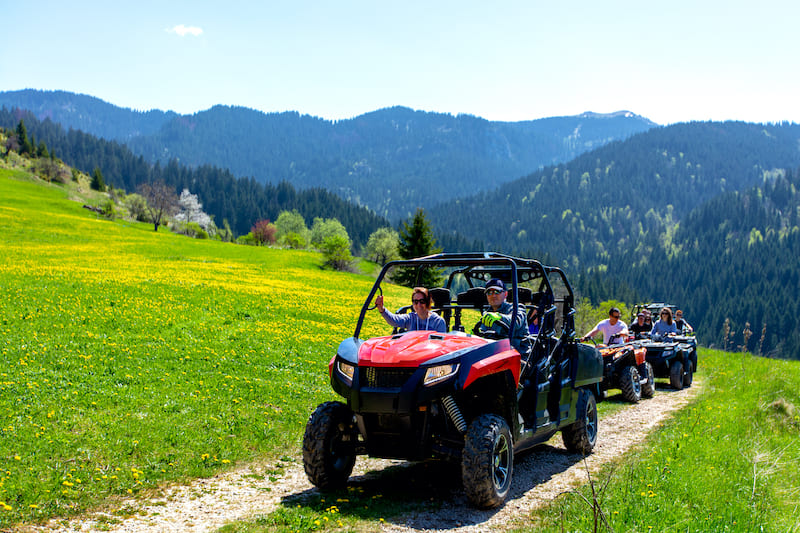 Renting four wheelers