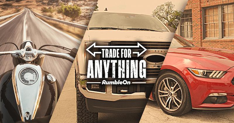 Trade motorcycles, ATVs, trucks, or cars
