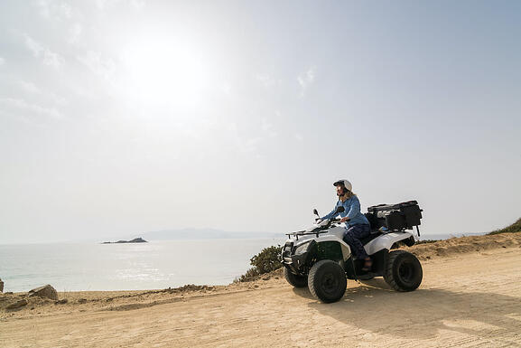 atv at the beach